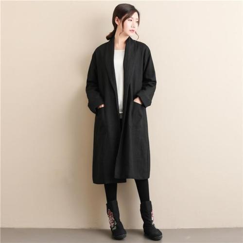 Casual Linen Trench Coat