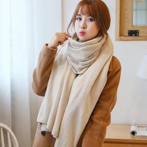 Winter Women Cashmere Scarf Solid Knit Pashmina female foulard Shawls Wraps thick scarves bufandas invierno mujer