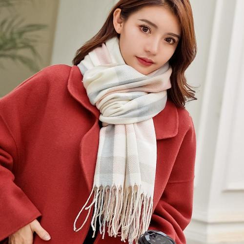 2020 Autumn Winter Female Wool Plaid Scarf Women Cashmere Scarves Wide Lattices Long Shawl Wrap Blanket Warm Tippet