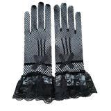 White or Black Bridal Gloves Lace Finger Short Cheap Wedding Gloves Accessories Wrist Length Wedding Finger Gloves