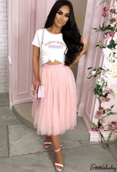 New Fashion Sexy Female Skirt Women Layers Tulle Maxi Skirt Womens Night Cocktail Party Bridesmaid Midi Skirt