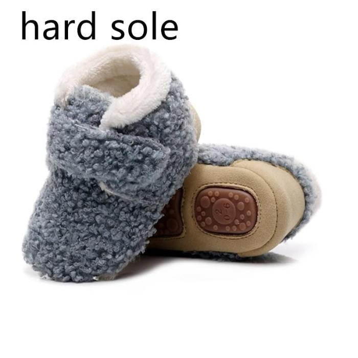 2020 Lamb Wool Baby Winter Boots Ankle Soft and Hard Sole Warm Snow Boots Fleece Short Boots Girls Winter Toddler Boots