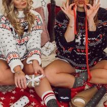 Cute Reindeer Knit Christams Sweater