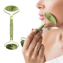 Natural Facial Beauty Massager Face Lift Tools artificial Jade Quartz Roller Face Thin Massageador Face Skin Care Hand Tools