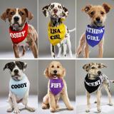Personalzied Dog Bandanas Pet Scarf Custom Pet Bandana Bib Cotton Dog Puppy Bow Ties Collar Cat Dog Scarf Pet Accessories