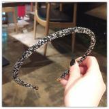 1 PCS Fashion Korea Crystal Soft Headband for Women Rhinestone Hairband Beads Bezel Girls Hair Accessories Simple Headwear