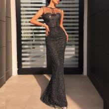 Sexy Mesh Slim Fishtail Evening Dress