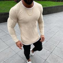 Casual Round Neck Tight-Fitting Solid Color Top