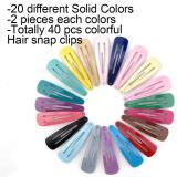 40pcs Hairpins Hair Clips For The Women Hair Barrettes Pins Metal Hairgrip Colorful Snap Alligator Hair Clip Women Accessories