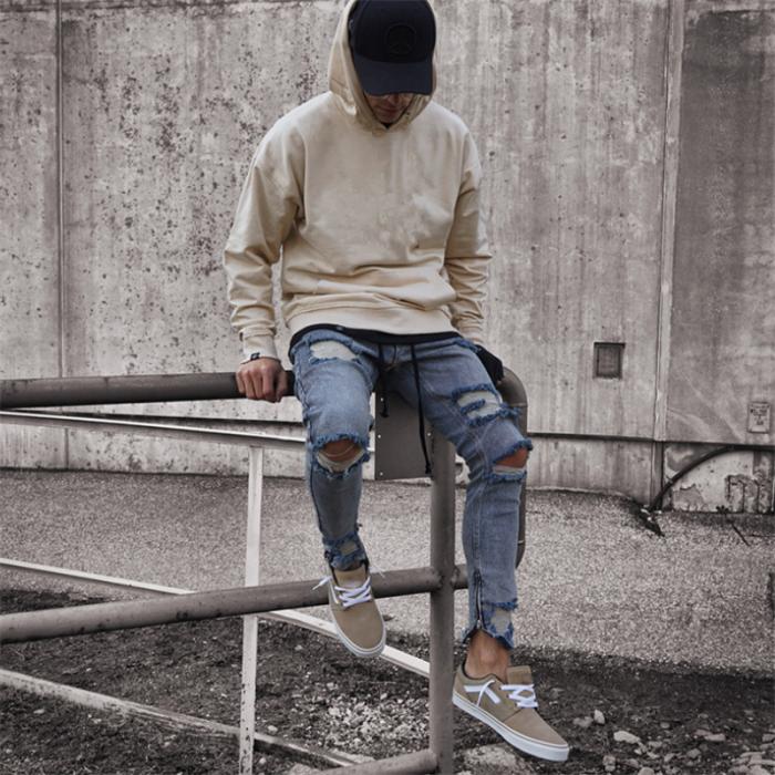 Men's Fashion Casual Hole Jeans