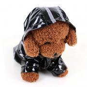 Solidcolor Waterproof Dog Raincoat with Hood for Pet Dog Puppy Rain Coat Cloak Costumes Clothes Supplies Golden RetrieverOutdoor