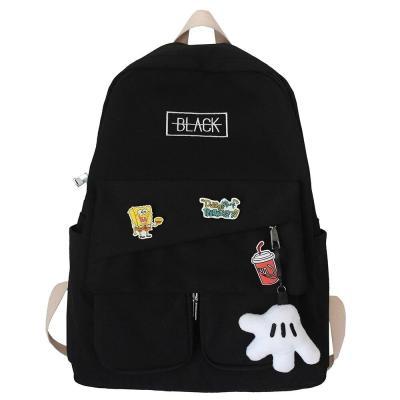 Book Fashion Lady Kawaii Backpack Waterproof Nylon Girl School Bag College Female Cute Backpack Badge Women Harajuku Bag Student