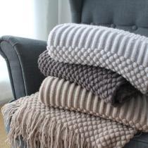 Tassels Knitted Blanket - 60 x70