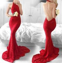 Fashion Sexy Backless Party Slimming Evening Dress