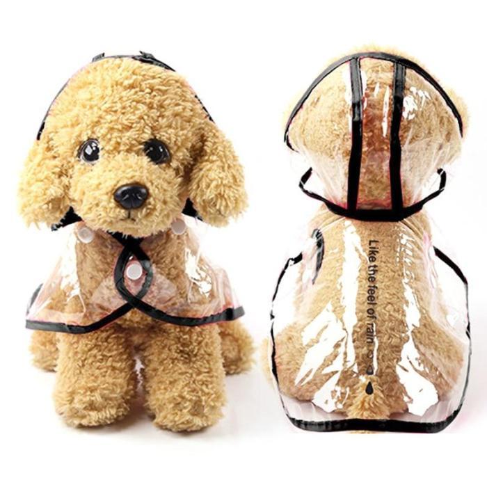 Waterproof Dog Raincoat with Hood Transparent Pet Cat Puppy Rain Coat Pet Jacket Clothes for Small Medium Large Dog Pet Supplies