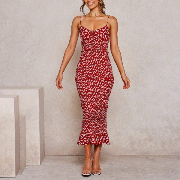Sexy Ruffled Dress Layered Dress