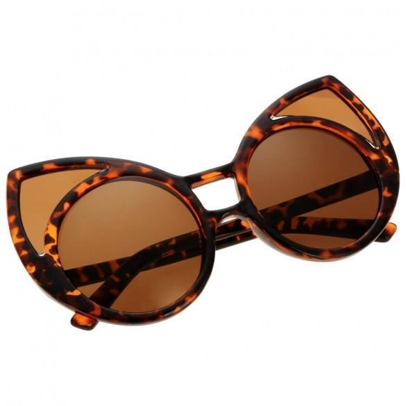 Unisex Cute Animal Shape Round Plastic Frame Casual Outdoor Sunglasses