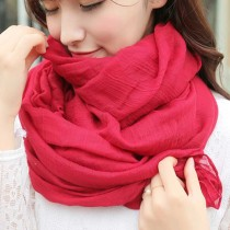 Candy Color Women Autumn Winter Cotton Linen Scarf  Large Long Warm Scarves Fashion Female Shawl Pashmina Cape 50*180CM
