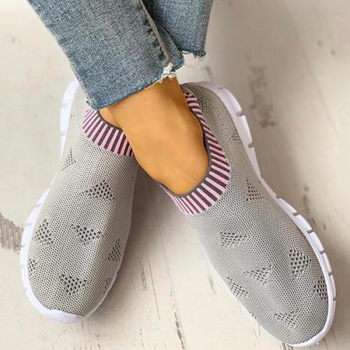 EBUYTIDE Net Surface Breathable Knitting Casual Sneakers