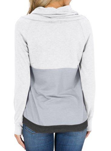 Colorblock Thumbhole Sleeved Sweatshirt