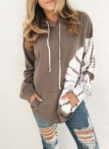 Front Pocketed Color Block Hoodie
