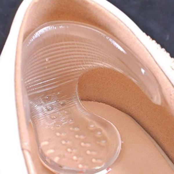 High Insoles Gel Pad Foot Care Arch Support Cushion Heel Insert Silicon Gel Insoles Silicone Gel High Heel Grip Shoe Foot Protec