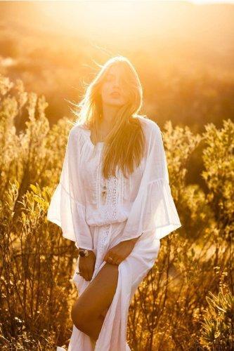 Maxi Boho Dress,  Beach Dress, White Andria
