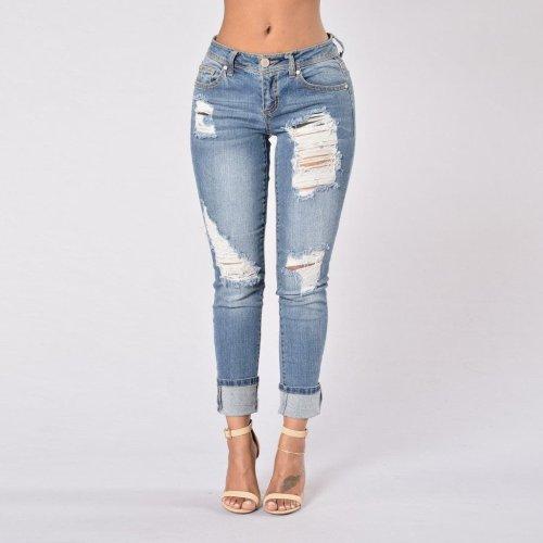 Fashion Baggy Nine - Point Hem Jeans