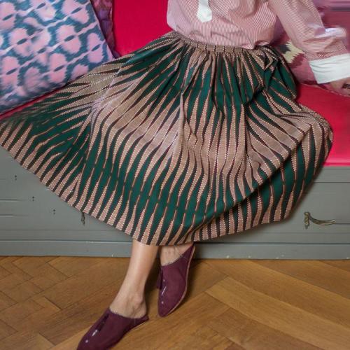 Fashion Printed Color High-waist Loose Skirt RY58