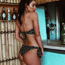 Tie-up Polka Dot Bikini set