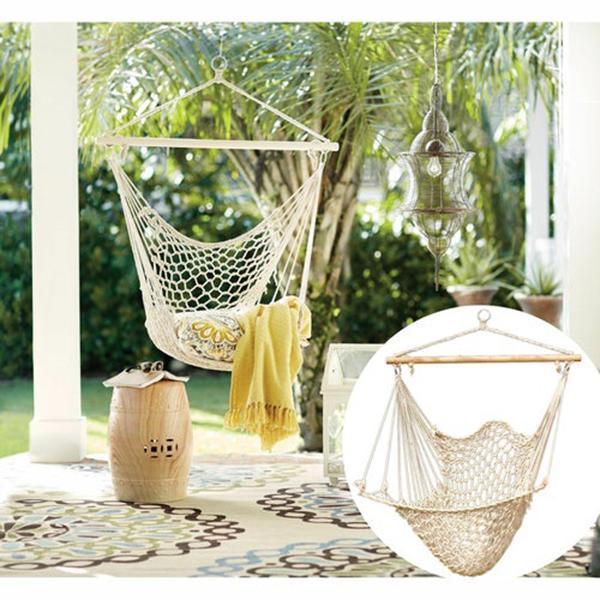 Hammocks White Hanging Net Chair|Cotton Swing Camping