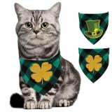 1 Pcs Pet Dog Grooming Product St Patrick's day Cat Dog Bandana Green Cotton Dog Bandana Scarf For Small Medium Dog Accessories