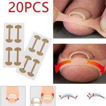20pcs Professional Embedded Toe Nail Corrector Sticker Toenail Care Pedicure Thumb Curl Correction Sticker