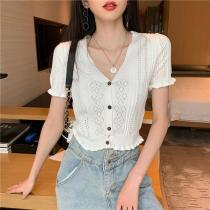 New Lolita women sweater kawaii pullover top super cute rabbit embroidery high collar stretch warm knit bottoming sweaters