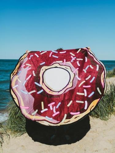 Bohemia Doughnut Pattern Round Shawl Beach Mat Yoga Mat