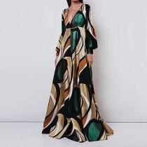 Elegant And Fashionable   Print  Maxi Dress