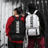 Large Men Women Hasp Backpack 2020 Hip Hop Vintage Harajuku Korean Multifunction Travel Back Bag Streetwear Canvas School Bags