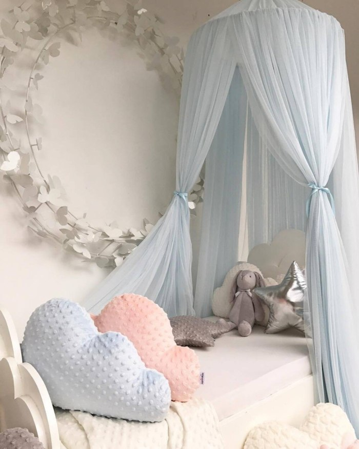 Kids Play House Tents Princess Canopy Bed Curtain Baby Crib Crown Round Hung Dome Child Bed Tent Room Decoration