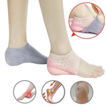 New Arrival 1Pair Invisible Height Increased Insoles Silicone Lift Heel Dress In Socks for Women Men Interior Heightening Insole