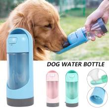 Portable Dog Water Bottle Drinking Bowls For Small Large Dogs Feeding Water Dispenser Cat Activated Carbon Outdoor Filter Bowl