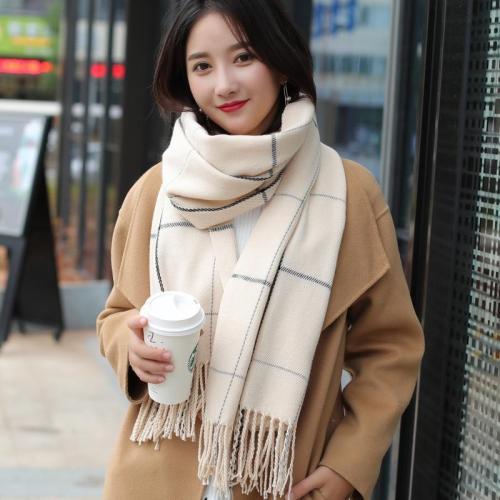 New fashion knitted autumn winter female Korean warm elegant scarf women girls sweet tassel scarf wool flash scarf wild shawl