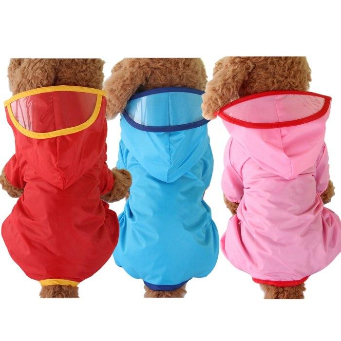 Summer Outdoor Puppy Pet Rain Coat XS-XXL Waterproof Jackets PU Raincoat for Dogs Cats Apparel Clothes