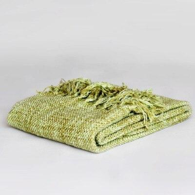 Crocheted Home Car Aircondition Knitted Throw Blankets for Beds Solid Plaids Bedspread Bed Runner Sofa Cover koc narzuta YMBK32