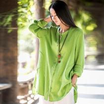 Button up Cotton and Linen Shirt