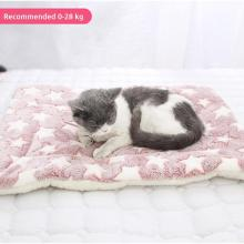 2020 Soft Cat Bed Rest Dog Blanket Winter Foldable Pet Cushion Hondenmand Coral Cashmere Soft Warm Sleep Mat Sweet Dream Bed