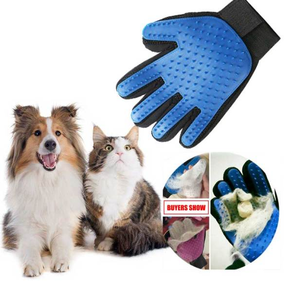 Pet Cat hair remover glove Comb Pet Dog Grooming Cleaning Glove Deshedding Hair remover Massage Brush Cat supplies Accessoies
