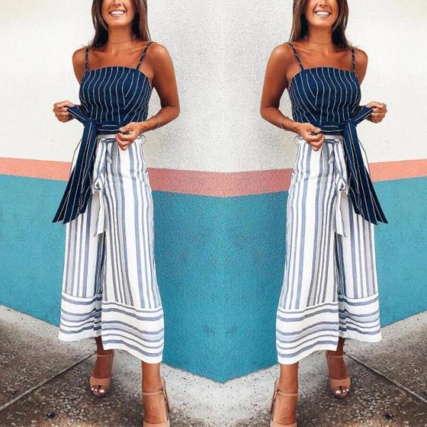 Fashion Casual Stripe Loose Pants