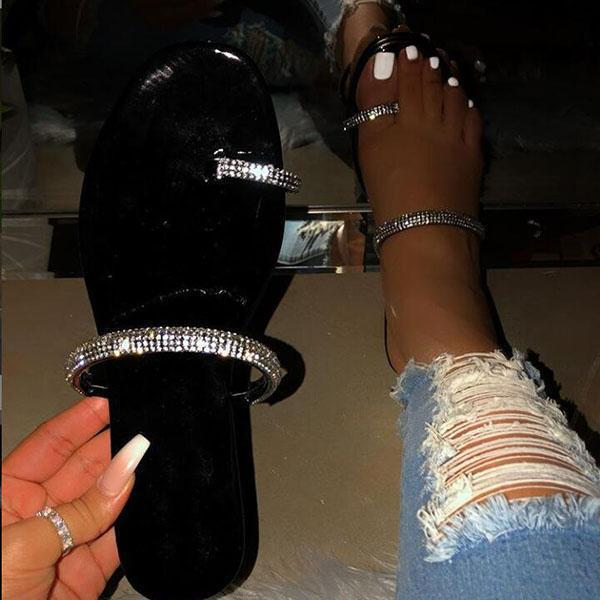 Glitter Casual Shiny Slippers
