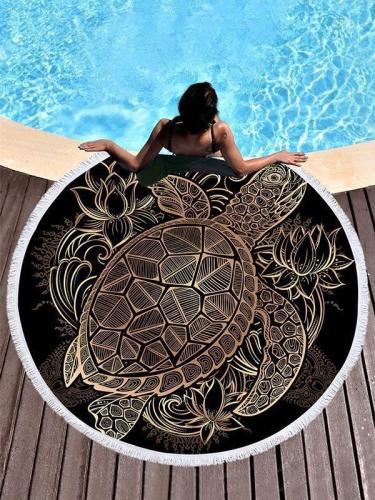 Popular Tortoise Printed Beach Mat