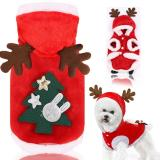 Cartoon Dog Clothes Christmas Dogs Clothing Pet Outfits Cute Spring Summer Fleece Milu Deer Print Small Cosplay Ropa Para Perro